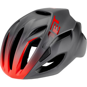 MET Rivale Kask rowerowy, black/shaded red